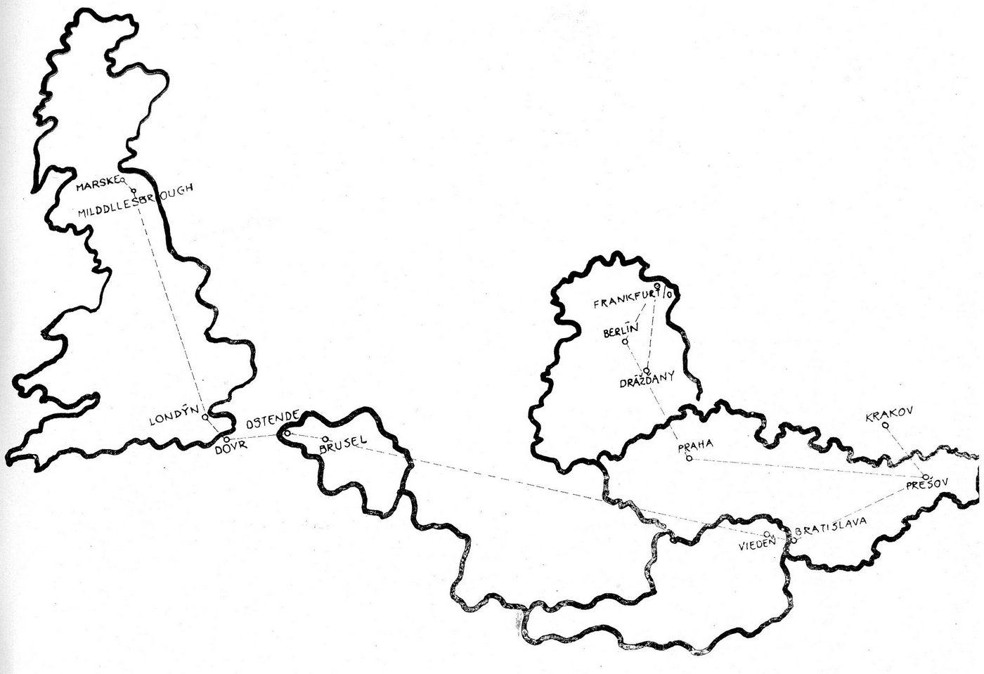 Zahraničné zájazdy - mapa