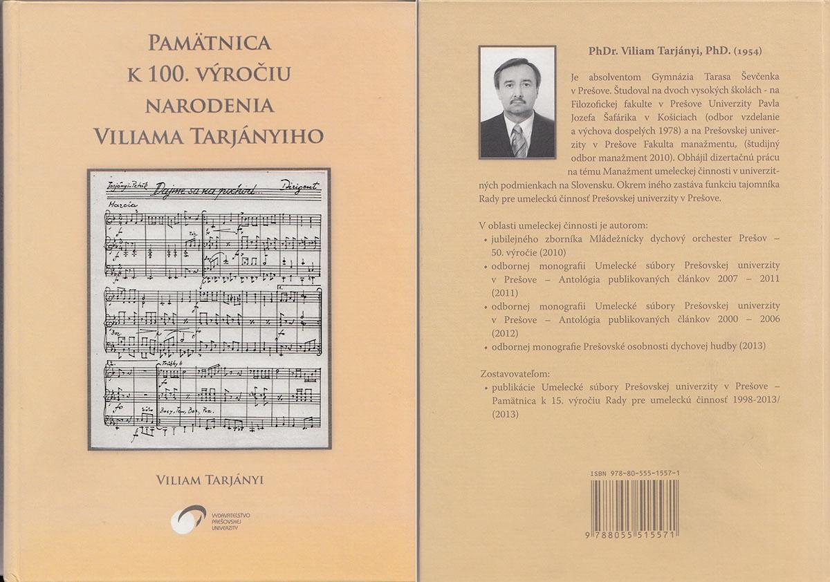 Pamätnica k 100. výročiu narodenia Viliama Tarjányiho
