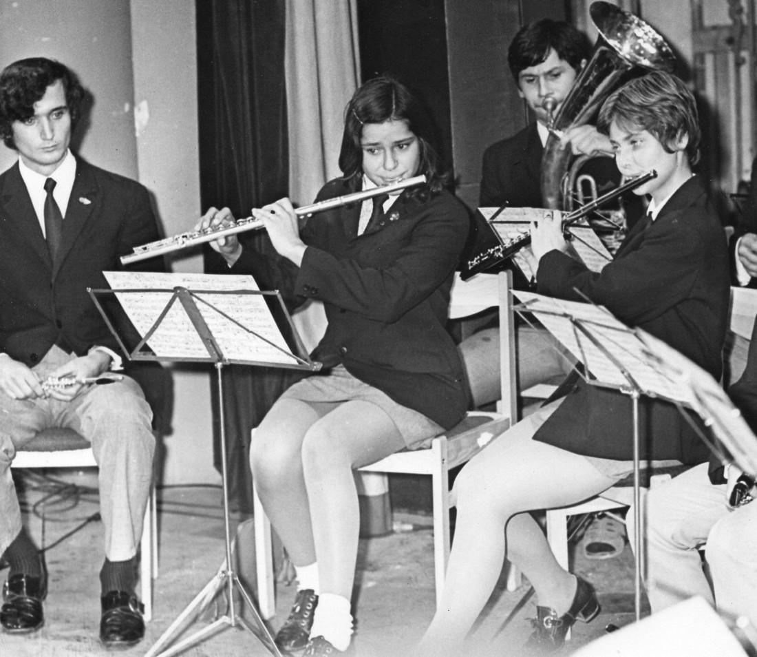 Zľava Jozef Tarasovič, Anna Vlasatá, Magda Matejová