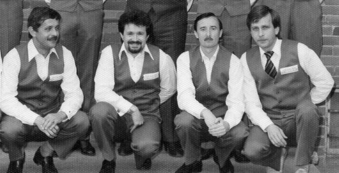 Zľava Jozef Blažovský, Damián Svit, Viliam Tarjányi, ml., Vladimír Grejták