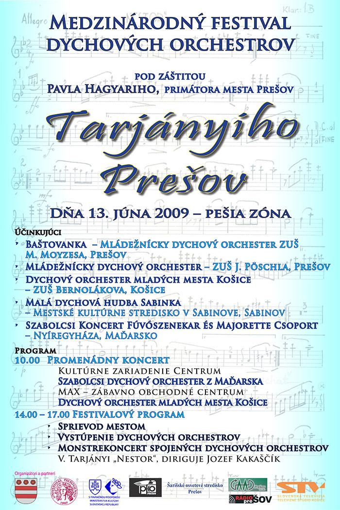 Plagat Tarjányiho Prešov 2009