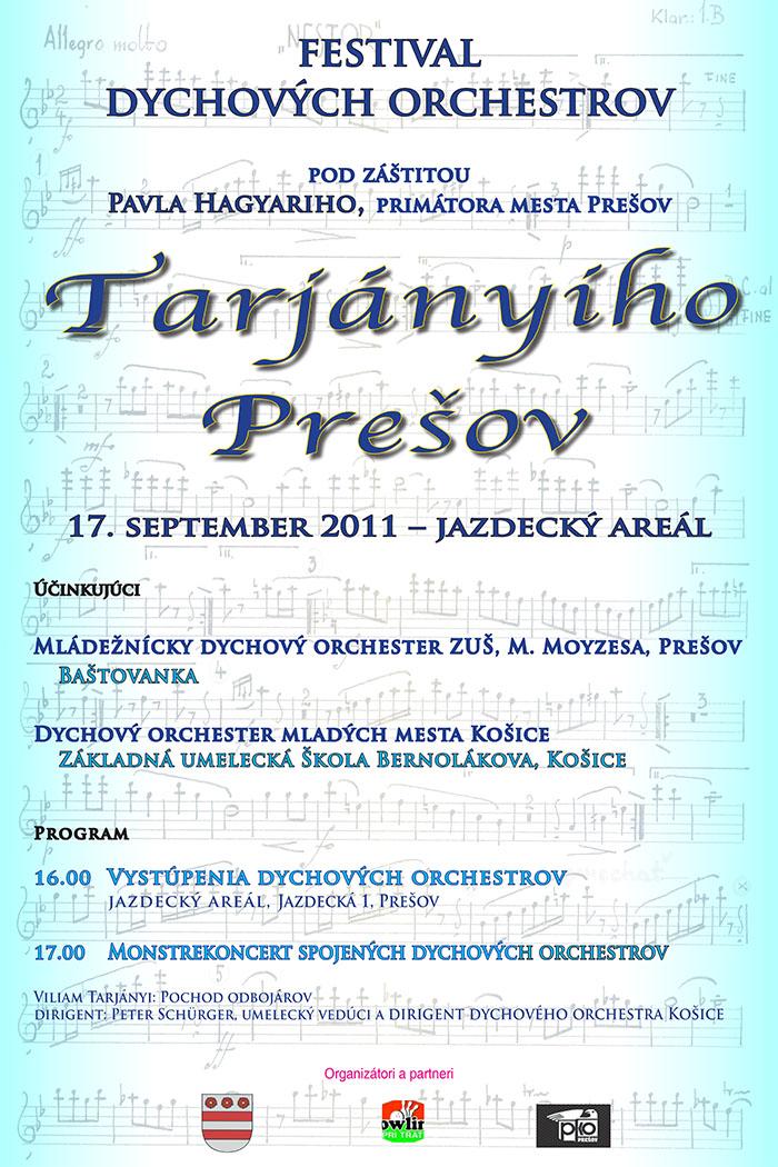 Plagat Tarjányiho Prešov 2011